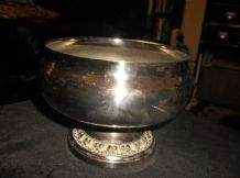 VINTAGE SILVER PLATED IANTHE ROSE POSY BOWL NO LID ORNATE BASE DETAIL ROSES 6""